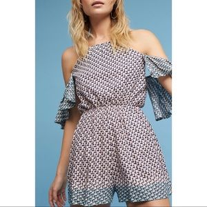 Anthropologie - Elevenses Printed Romper